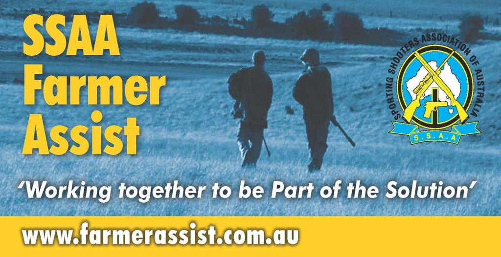 Sporting Shooters Association of Australia Inc The Complete SSAA Farmer Assist Program Booklet The following booklet outlines features of the SSAA Farmer Assist program.