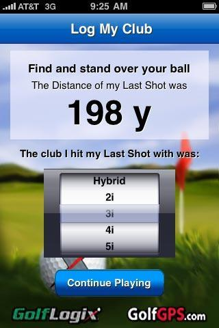 Measure My Shot (Continued) Log My Club.