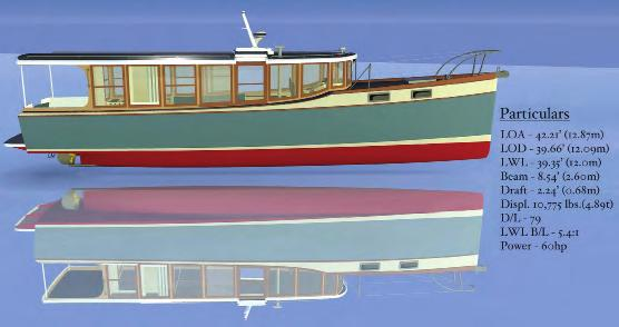 F I N A L L Y... A hybrid downeast cruiser Sustainable boating... The ultra-efficient downeast cruiser is designed by McGowan Marine Design Inc.