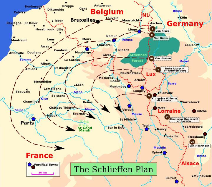2 Along the Franco German border, where it was hoped that the French might try and seize back the lost territories, they would play a holding game with just 5 infantry Corps and 3 of cavalry.