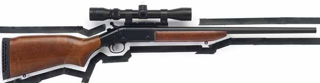 Handi-Rifle TM 22/250 Rem., 25/06 Rem., 223 Rem., 243 Win., NEW 243 Win. with factory-mounted 3-9x32 scope, 270 Win., 280 Rem., 30/06 Sprg., 308 Win., or 7mm/08 Rem.