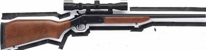 with factory-mounted 3-9x32 scope Specifications: All models are single shot, break-open action with side lever release, automatic ejection and transfer bar system. (Subject to change without notice.