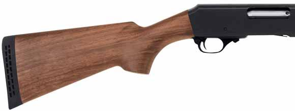 Available with either a rugged black synthetic stock, or classic American walnut, these 20 gauge pumps have