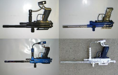 Makes and Models Numerous companies from Taiwan to Alabama manufacture and distribute low priced electronic blowback paintball guns.