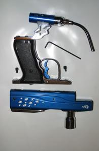 velocity adjuster, present on nearly all blowback electronic paintball guns.