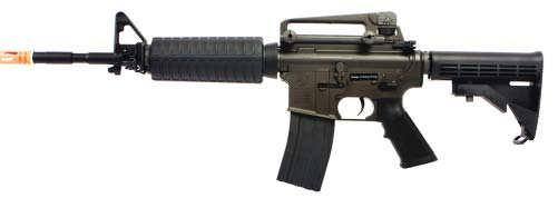 King Arms Colt M4A1, Full Metal, AEG, Metal Gear, Metal Gearbox, w/ spin up and ball