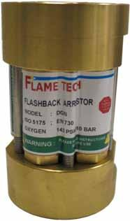 In Line and Point of SupplY DEMAX Series The DEMAX Flame Tech Flash Arrestors are ideal for high volume gas flow applications in pipelines, manifolds and regulators.