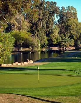 renowned original design of Papago Park. The 70-year history of Mesa Country Club is evidenced by the stunning, mature trees that line every fairway.