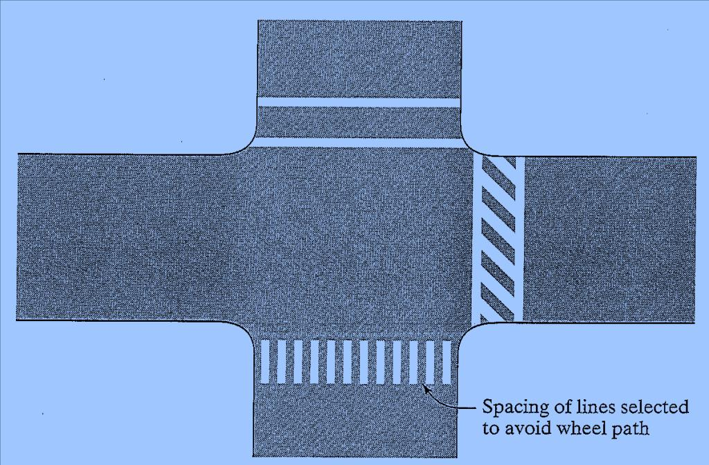 Traffic Markings Cont Crosswalk Markings Is recommend that crosswalks be marked at