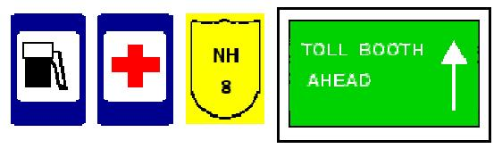 Traffic Signs Cont Guide/Informative/ Signs Provide information to road users concerning destinations, available services, and historical/recreational