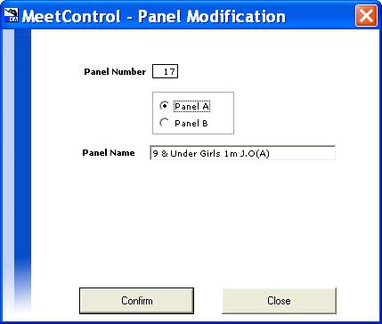 Select the button 3 rd from the bottom, Panel of Judges Management. Click on Create a Panel near the bottom on the left.