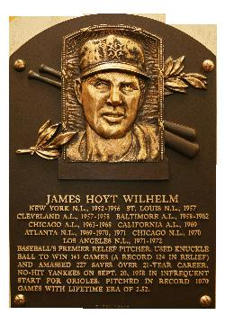 FRONT OFFICE SMOKIES MLB HALL OF FAMERS Hoyt Wilhelm Knoxville Smokies - 1948 - RHP Inducted in to the Baseball Hall of Fame - 1985