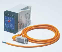 Two types of sensors are available: Conductivity Measurement, Standard (orange) for conductive products Capacity System, ATEX (blue) for non-conductive products and approved for ATEXcertified pumps.