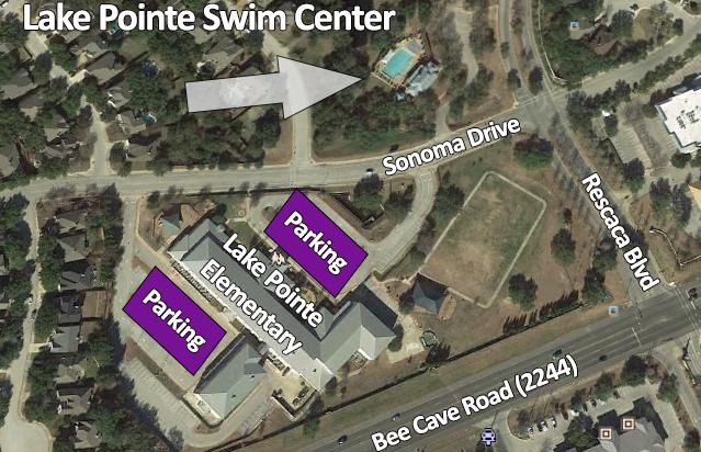 EVENT INFORMATION DATE TIME LOCATION Sunday, September 10, 2017 7:00 am Noon* See schedule for specific details Lake Pointe Swim Center 11700 Sonoma Drive Austin, TX 78738 DISTANCES Age Group