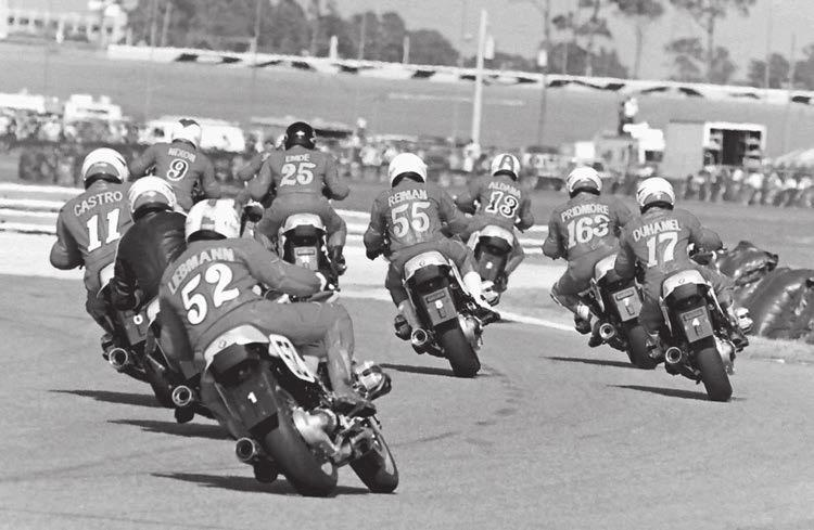 head back into roadracing and a feel for modern tires, corner speed and more. So just as Jeff had explained it, there I was at Daytona in March where I had won the 200 in 1972.