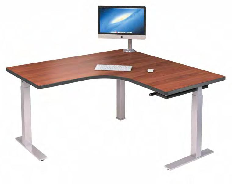 INFLUENCE Influence Standing Desk: Crank Adjustment for Corner Design Say farewell to your static environment.