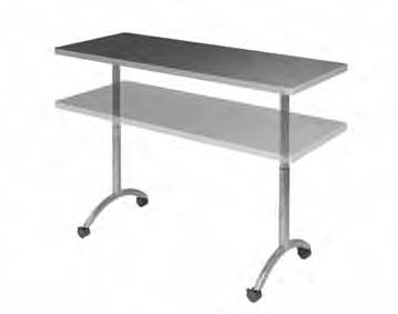 "Flip-top tables up to 72"" wide feature a quick-release handle easy for one person to"