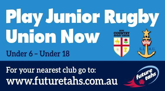 Page 18 PLAY JUNIOR RUGBY IN 2016 IS YOUR CHILD AGED 6-17 AND THINKING ABOUT PLAYING A FUN AND INCLUSIVE SPORT FOR ALL SHAPES AND SIZES.