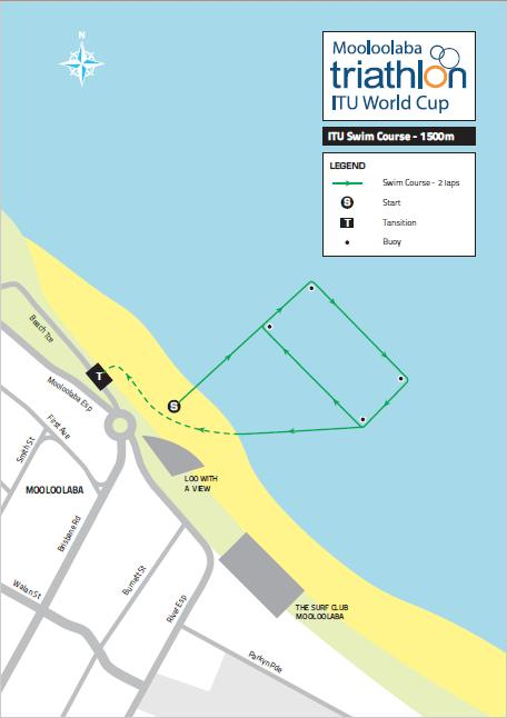 Information about the FOP Start The start area is located in front of Loo with a View on Main Beach, Mooloolaba. Access is via the swim exit chute.