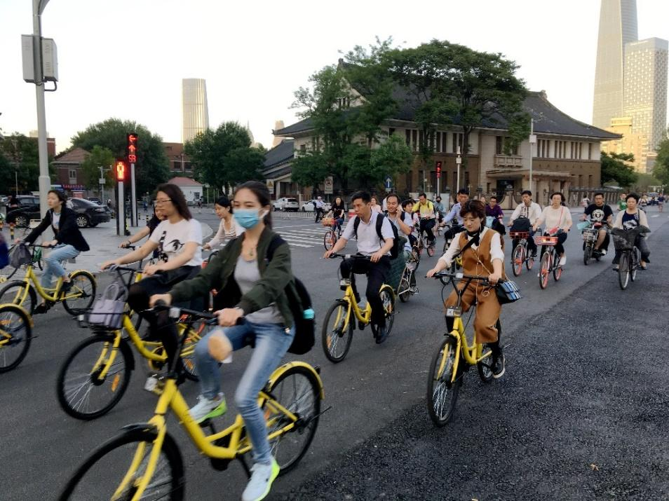 Popularity of Dockless Shared Bikes in Tianjin Long Time