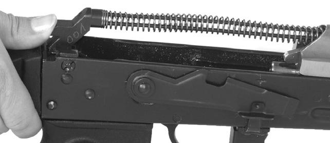 If this does not eject the cartridge, ride the bolt cocking handle home (slowly allow it to return to its forward position without allowing it to impact the back of the cartridge casing).