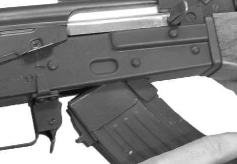 Load the magazine with the correct ammunition by pressing the cartridges one at a time into the spring-loaded magazine s feed lips - rear of the cartridge entering the magazine first.