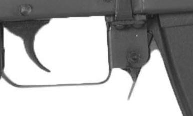 As the bolt moves rearward, the extractor will pull the empty cartridge case from the chamber and eject it from the rifle.