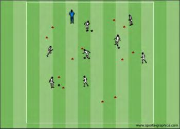 U8 Training Session 6 Receiving with the Inside of the Foot Coaching Theme: Look after the ball Phase #1 Gate Passing.
