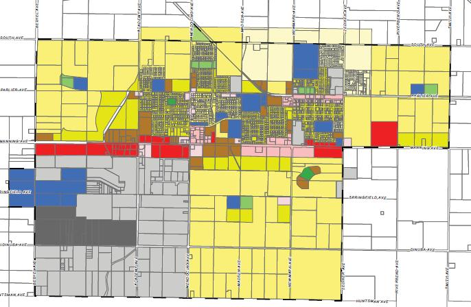 Figure 14-4: Parlier General Plan Zoning Map Source: City of