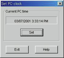 2.3. Set PC Clock The PC clock is set to the time of the watch.