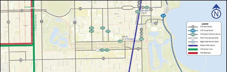 Existing Conditions Transit Network CTA Bus Routes 2 Hyde