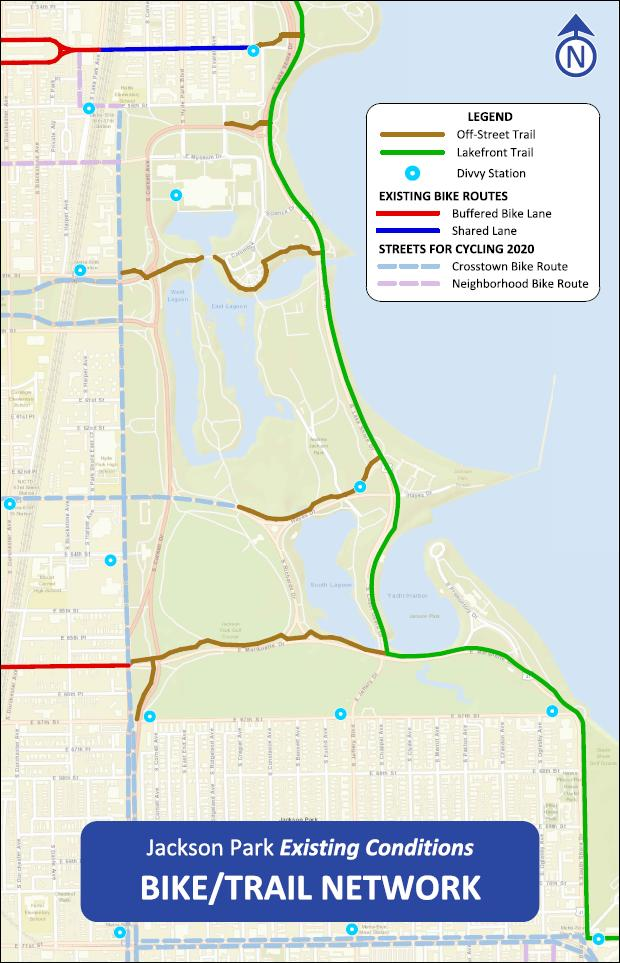 Existing Conditions Bike/Trail Network Lakefront Trail Other Off Street Trails