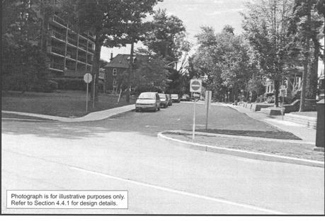 APPENDIX C TRAFFIC CALMING MEASURES AVAILABLE FOR CONSIDERATION Measure Description Illustration Obstructions