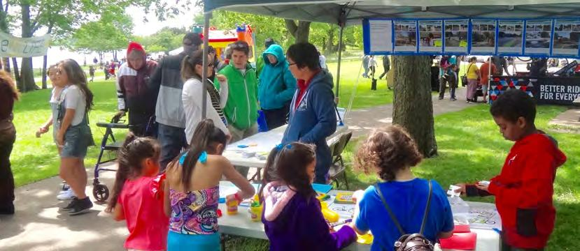 Summary: Waterfest Pop-Up Workshop Members of the project team held a pop-up workshop on May 30, 2015 from 11:00 AM to 4:00 PM at Lake Phalen in Saint Paul.