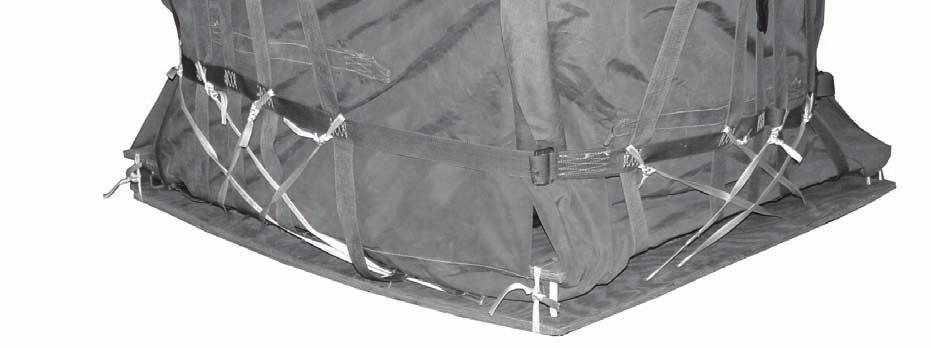 straps join the support webs as shown using ½-inch tubular nylon webbing