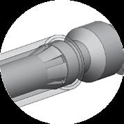 Often higher resistance than flat wiping connectors of the same wire size and plating due to the reduced mating surface area and lower normal force.