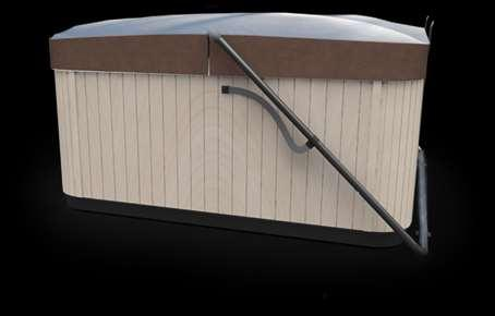 Carefully secure all latches when hot tub is not in use, to prevent wind damage. Snow Accumulation A single cubic foot of freshly-fallen dry snow weighs about 30 pounds!