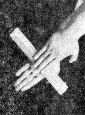 72. Rubbing Palms (HE PAN ZHANG). If somebody practices in squeezing various things with force, it is a good method to learn to twist even the hardest things.