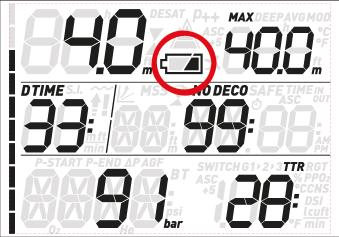 3. DISPLAY INFORMATION Upon immersion, if Quad Air was set to predive, it will immediately start monitoring the dive.