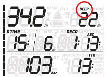 Quad Air Dive Computer consumption, oxygen percentage, CNS, ppo 2, ASC+5 (projected ascent time, see section 3.