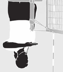 OVER-THE-NET FAULT Pass forearm, palm down, over the net, originating from the side of the net where the fault occurred.