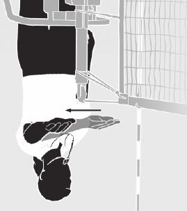 A receiving player attacks a served ball which is completely above the top of the net and it completely crosses the net or is contacted by an opponent.