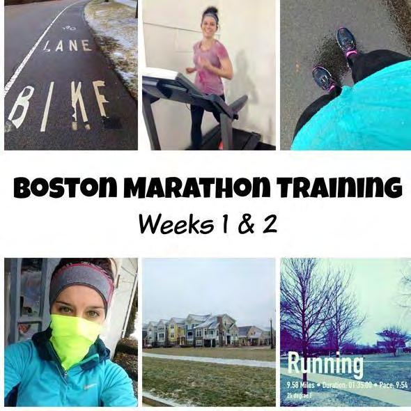Week 1 Monday: 75-minute long run Tuesday: Off Thursday: 45-minute run Saturday: 15/20/15 tempo run Total mileage: 18.