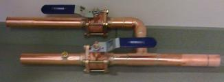Upstream piping would be done using the same procedure and future valve assembly would be installed This future
