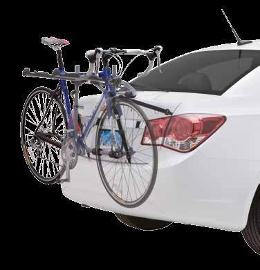 hold the bike secure Padding protects trunk and