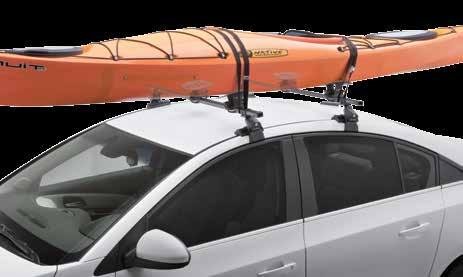 Horizontal Kayak Carriers Mooring SR5511 Padded arms to protect the kayak