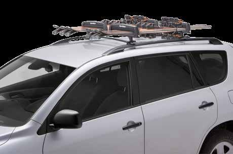 Attaches easily to vehicle rack system Easy to open while
