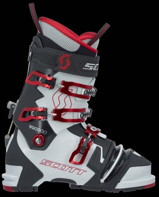 TELEMARK SCOTT VOODOO 239785 (NTN) 239786 SCOTT s beefiest telemark boot, the Voodoo s unprecedented lateral stiffness works harmoniously with a smooth, progressive forward flex.