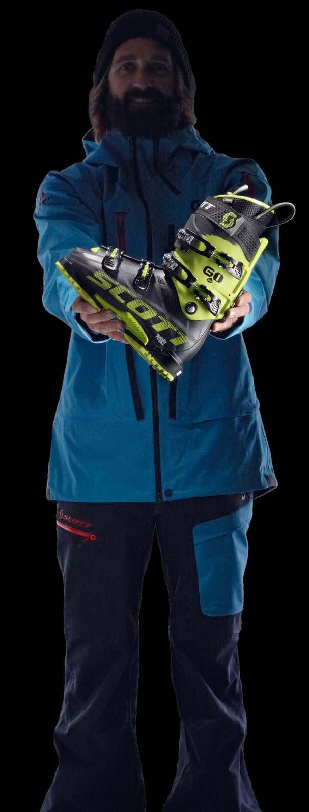 S COT T FREES ANYWHERE, ANYTIME COMFORT AND PERFORMANCE SCOTT OFFERS A FRESH LINEUP OF FREESKI-ORIENTED BOOTS FOR 2015-16 TO DRIVE SKIERS TO EXPLORE ALL MOUNTAIN TERRAIN.