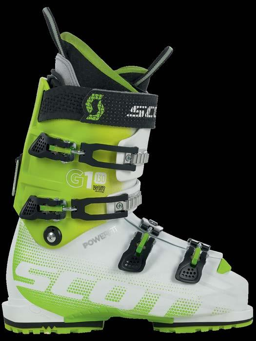 SCOTT G1 130 POWERFIT WTR 236374 The SCOTT G1 130 POWERFIT WTR is our signature freeskiing boot, offering the highest levels of performance and comfort.